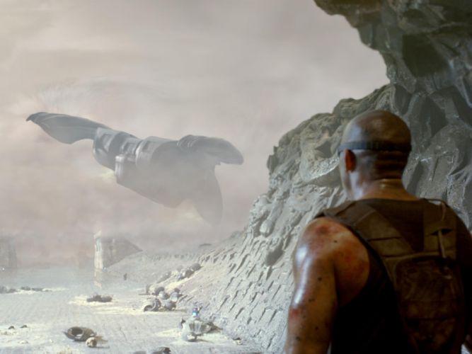 CHRONICLES OF RIDDICK sci-fi vin diesel warrior movie spaceship d wallpaper