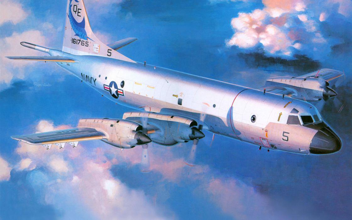 Art Lockheed P-3 Orion art military     gg wallpaper