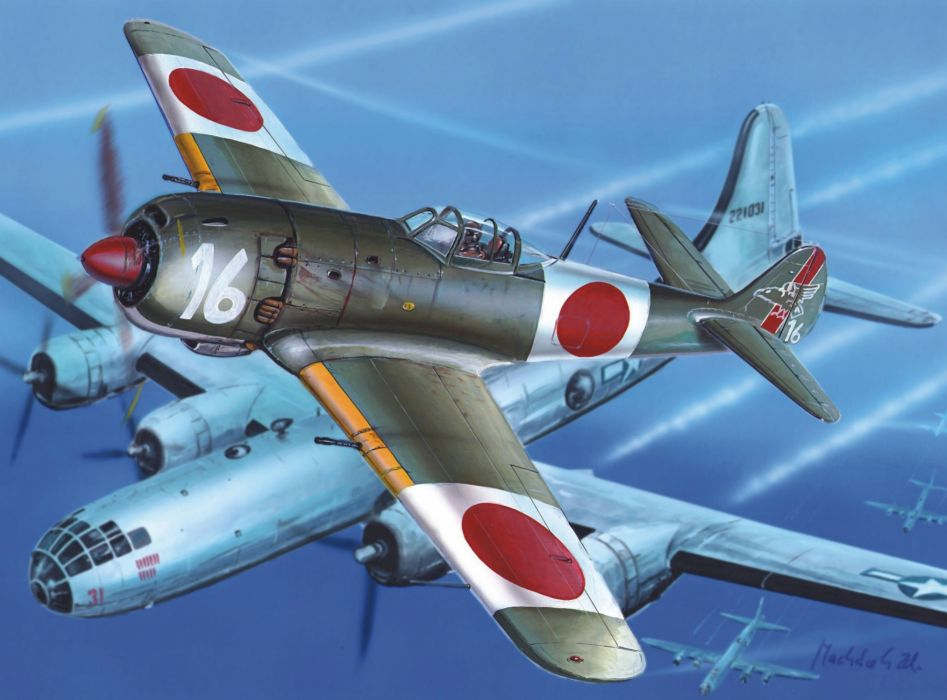 art sky aircraft Tachikawa Ki-106 military art       g wallpaper