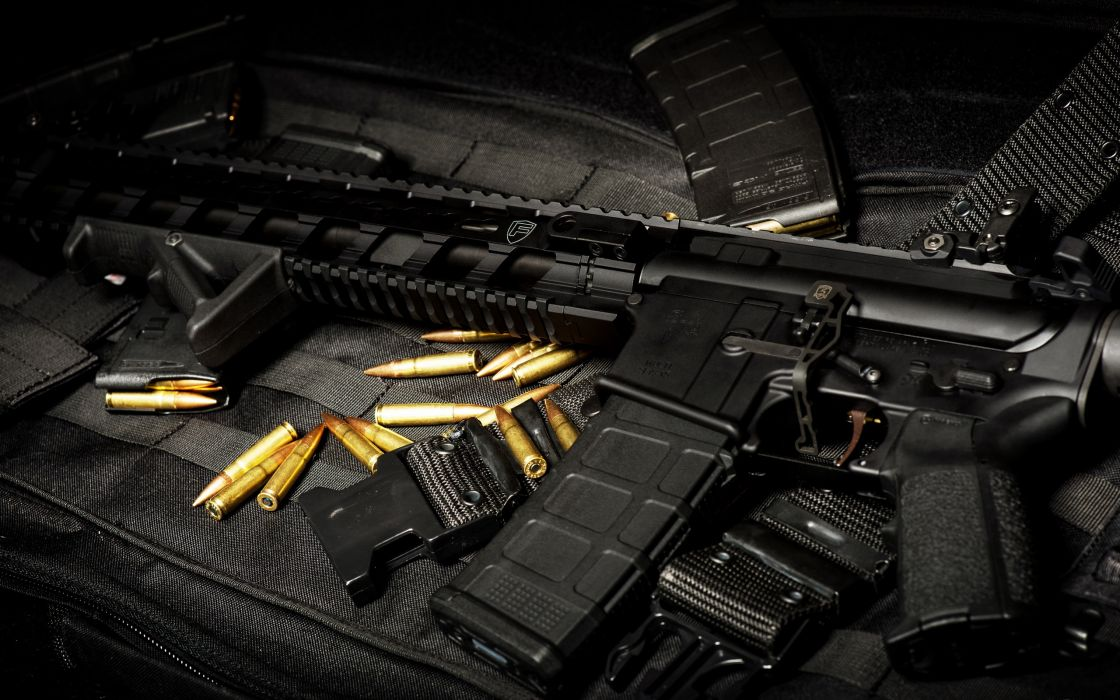 Automatic Weapon Ammo Gun Military Police Wallpaper