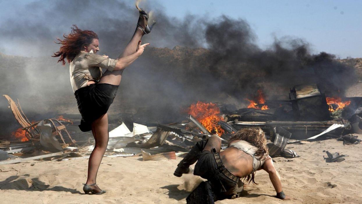 BITCH SLAP battle warrior girl sexy babe fire action wallpaper