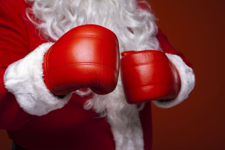 Boxing Christmas ( New year ) Santa Claus wallpaper