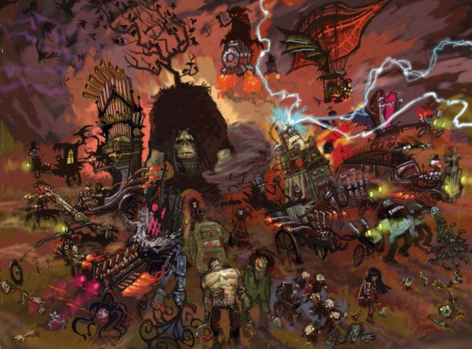 BRUTAL LEGEND game fantasy warrior monster psychedelic f wallpaper