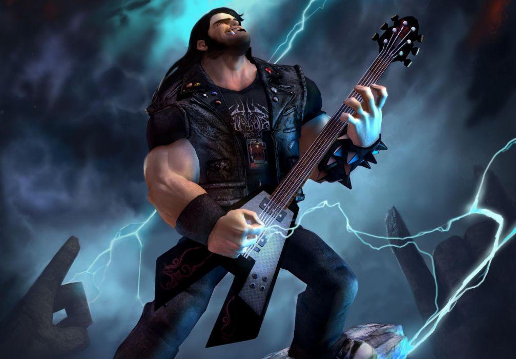 BRUTAL LEGEND game fantasy warrior music guitar  y wallpaper