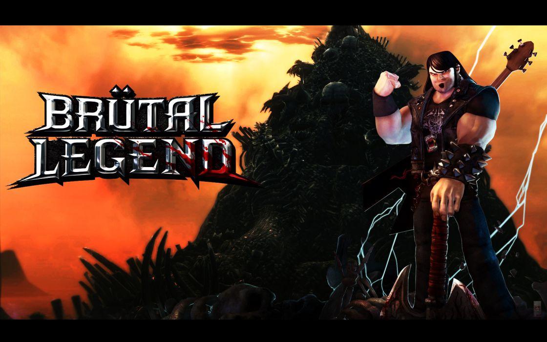 BRUTAL LEGEND game fantasy warrior music guitar h wallpaper