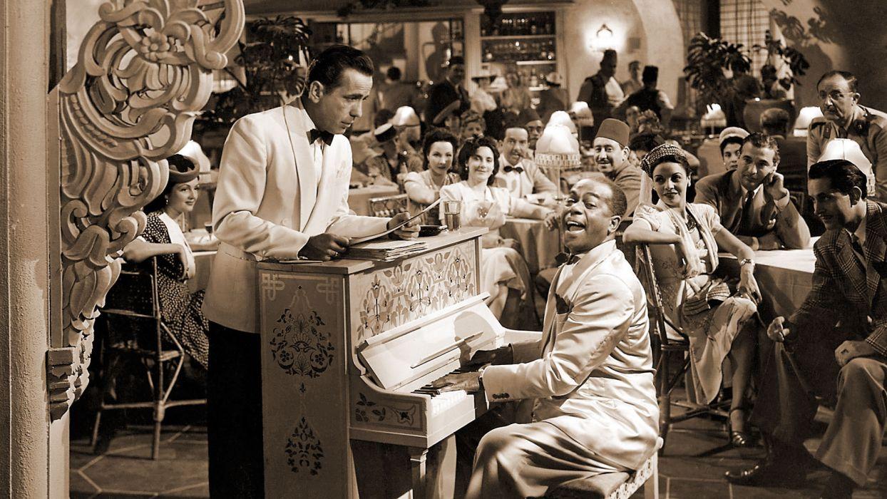 CASABLANCA drama romance retro classic piano music     f wallpaper