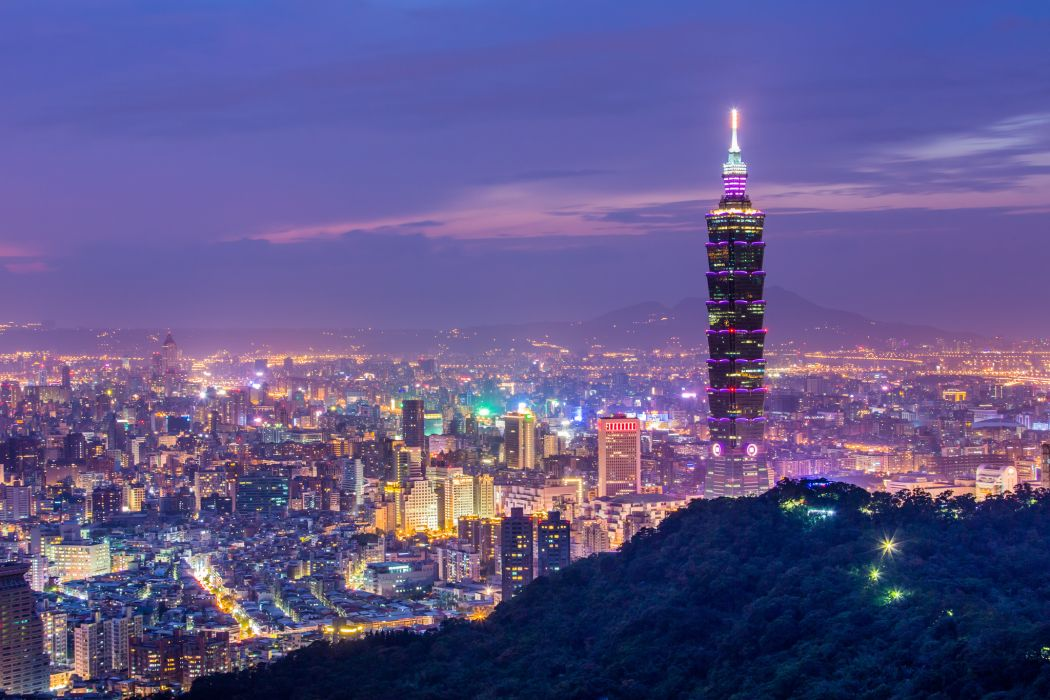 China Taiwan Taipei night city wallpaper
