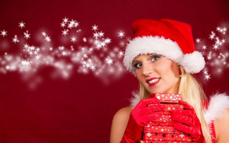 Christmas Girl Maiden d wallpaper