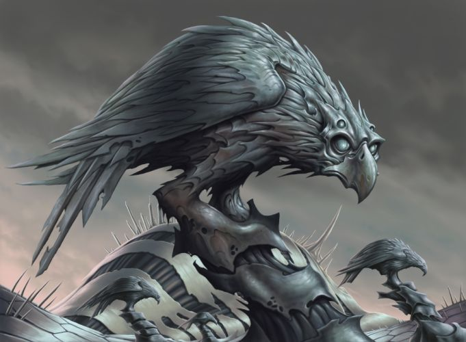 Crow raven bird dark fantasy skull g wallpaper