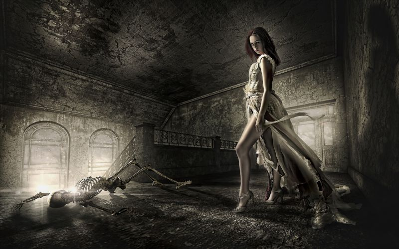 dead death decay lost soul skeleton dark fantasy gothic girl wallpaper
