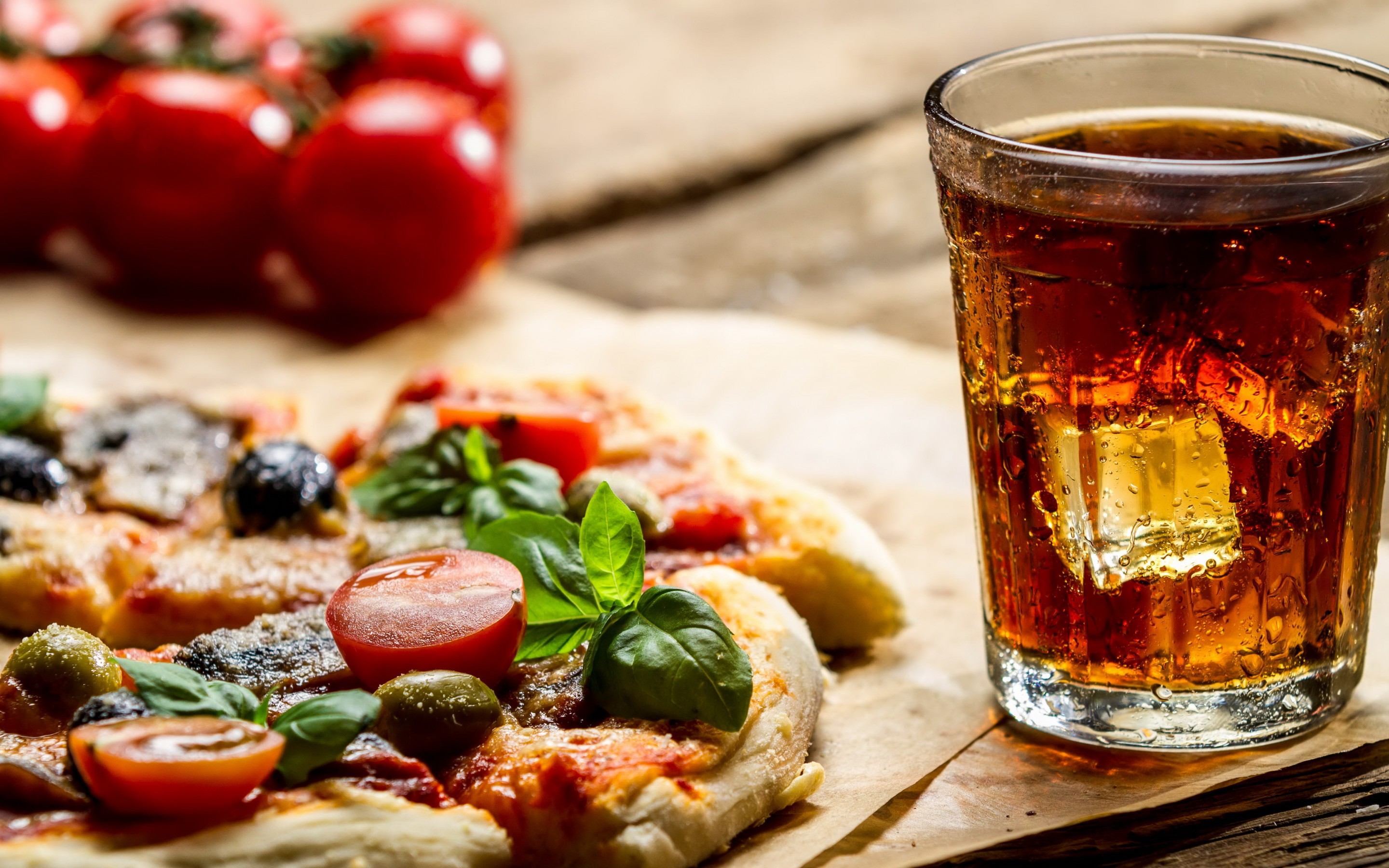 Pics Of Food And Drinks: Drink Pizza Wallpaper