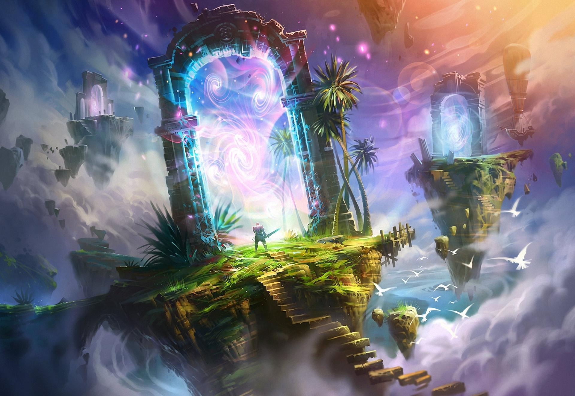 fantastic world portal magical f wallpaper 1920x1324