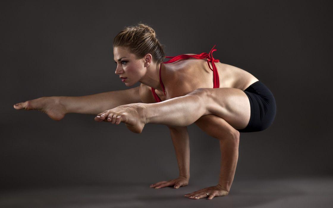 girl gymnastics sports fitness wallpaper