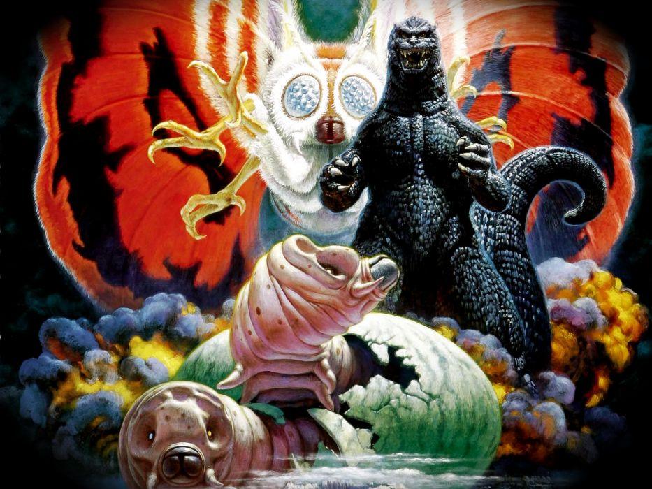 GODZILLA sci-fi fantasy action dinosaur monster     fe wallpaper