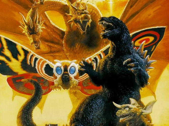GODZILLA sci-fi fantasy action dinosaur monster fw wallpaper