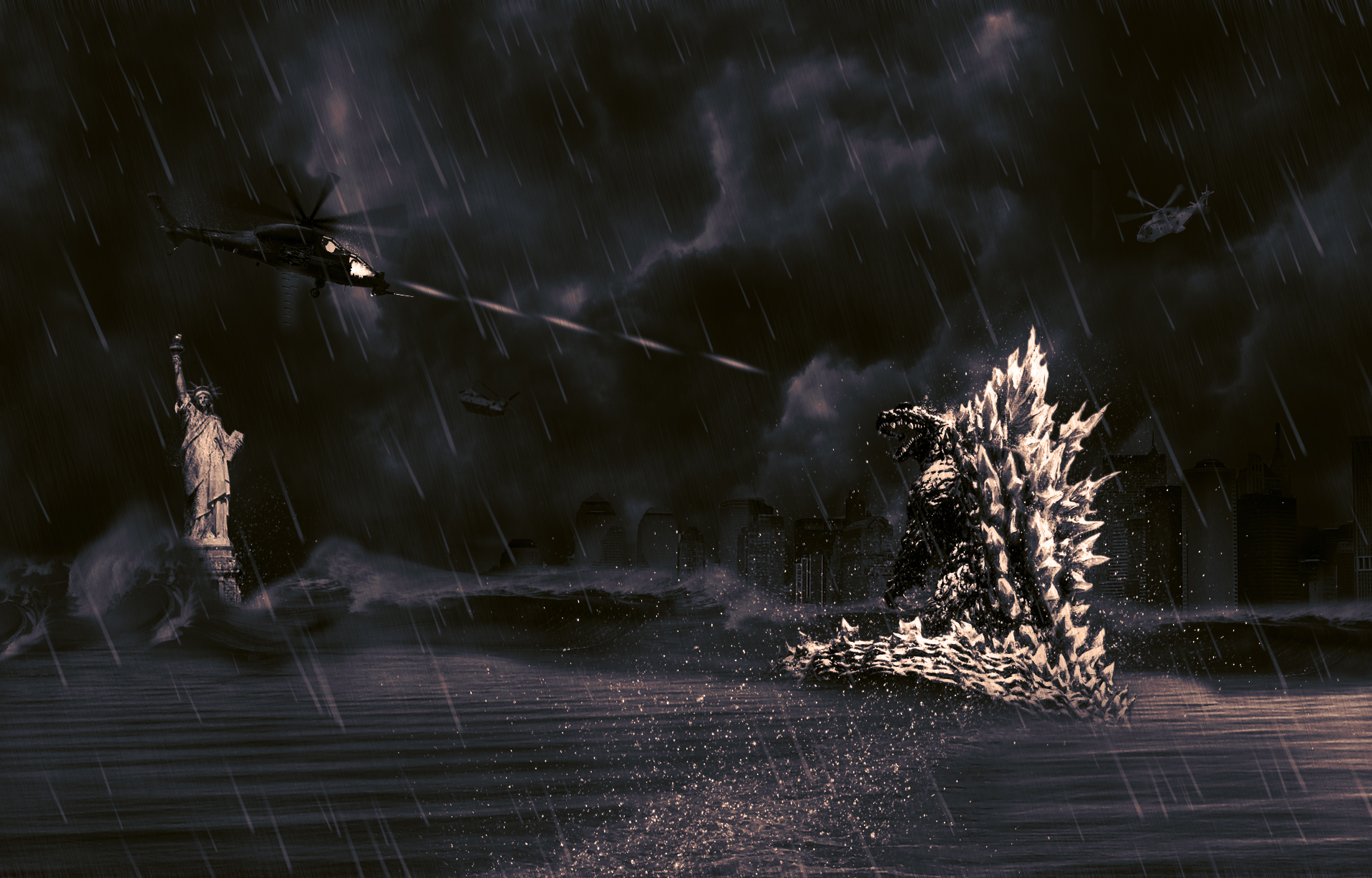 wallpaper godzilla monster dinosaur - photo #24