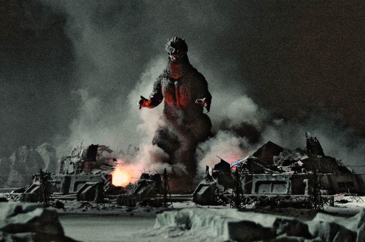 GODZILLA sci-fi fantasy action dinosaur monster battle f wallpaper