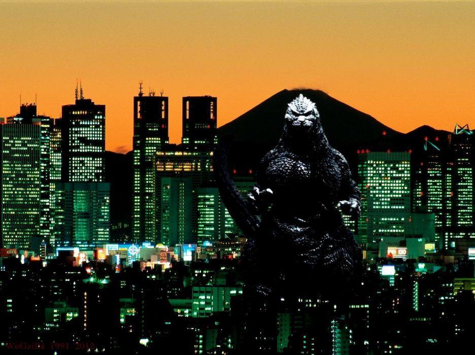 GODZILLA sci-fi fantasy action dinosaur monster city   f wallpaper