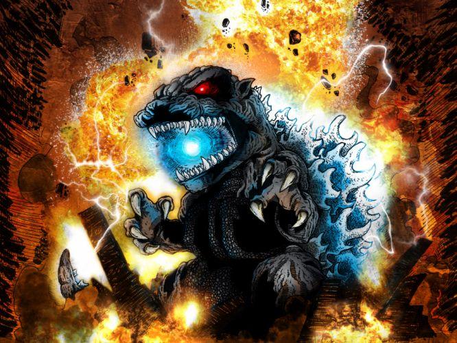 GODZILLA sci-fi fantasy action dinosaur monster fire f wallpaper