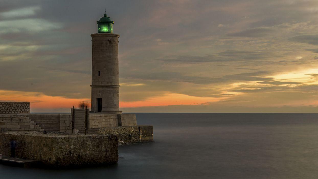 Lighthouse Ocean wallpaper