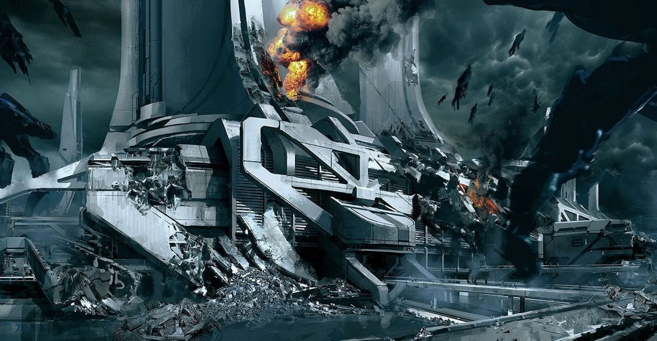 mass effect 3 game sci-fi spaceship apocalyptic     f wallpaper