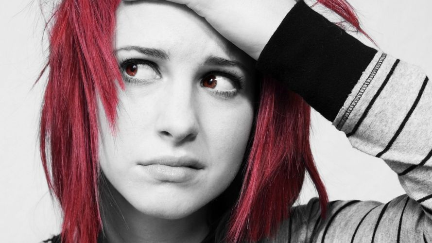 paramore Hayley williams hair red scene h wallpaper