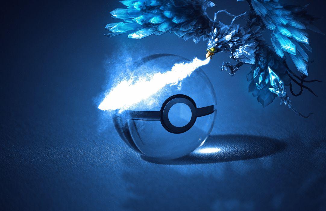 pokemon fantasy sphere bird magic fire wallpaper