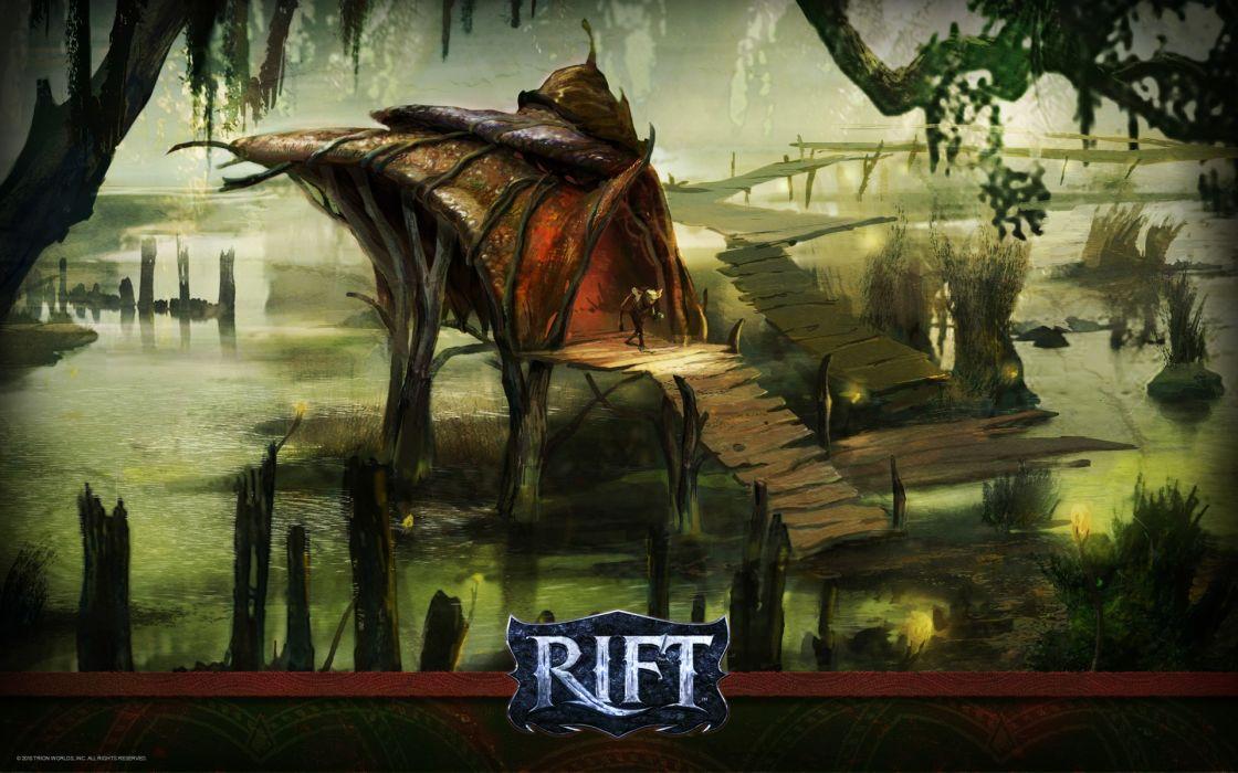 RIFT games fantasy city forest house     g wallpaper