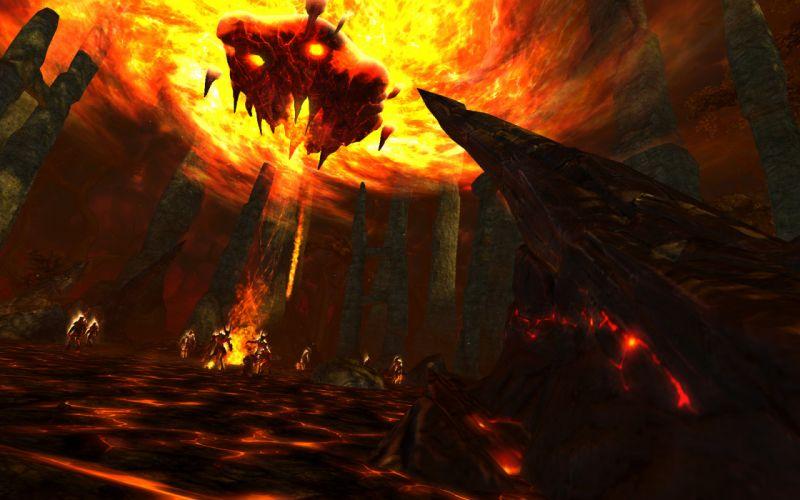 RIFT games fantasy demon monster fire f wallpaper