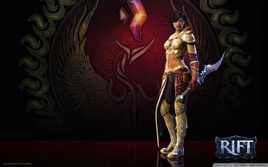 RIFT games fantasy warrior  b wallpaper