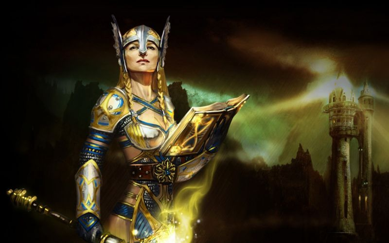 RIFT games fantasy warrior sword girl armor fo wallpaper
