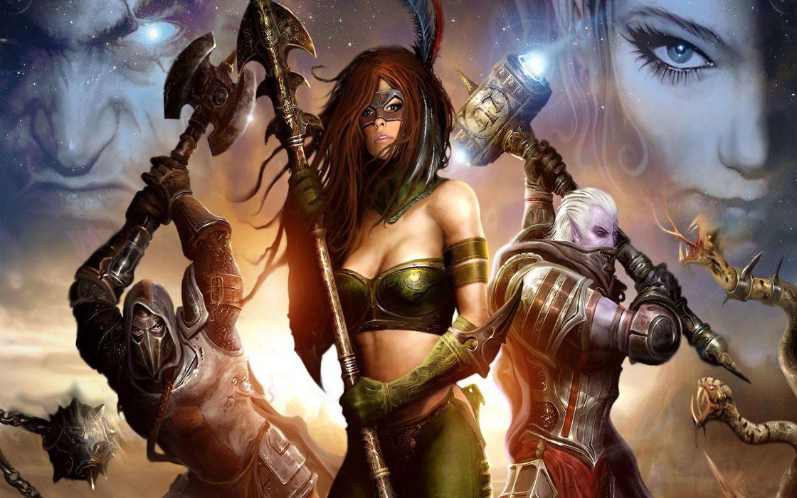 RIFT games fantasy warrior sword girl armor    fg wallpaper
