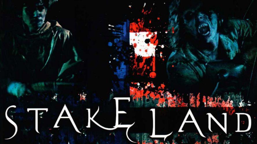 STAKE LAND Drama Horror Sci-Fi dark monster vampire poster f wallpaper