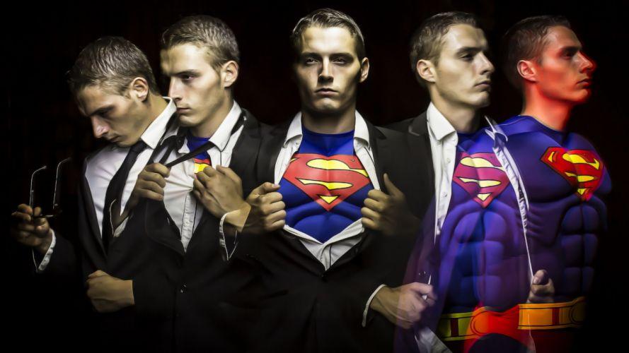Superman Light painting superhero g wallpaper