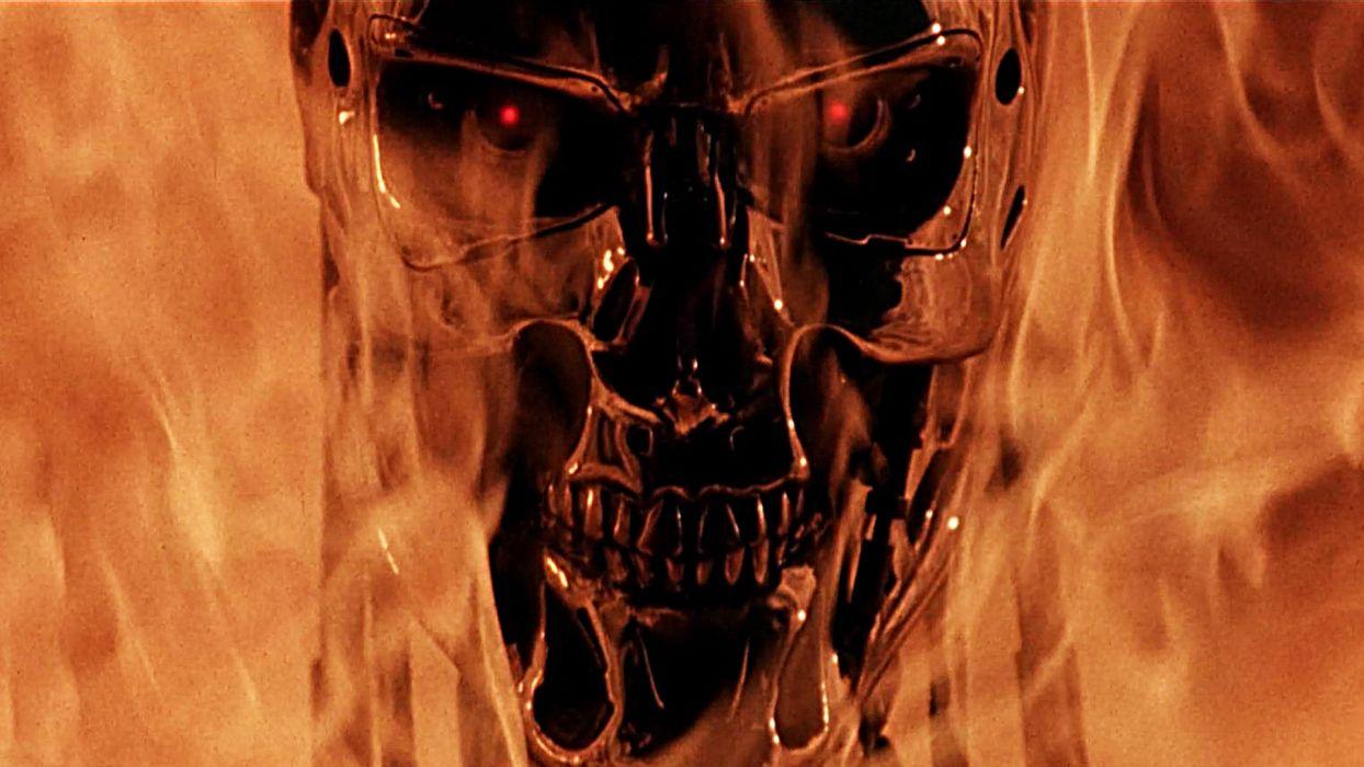 Terminator action sci fi thriller robot cyborg warrior dark skull terminator action sci fi thriller robot cyborg warrior dark skull fire f wallpaper voltagebd Choice Image