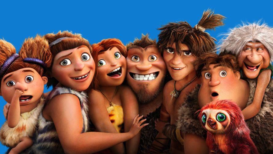 THE CROODS Animation Adventure Comedy Family cartoon movie d wallpaper