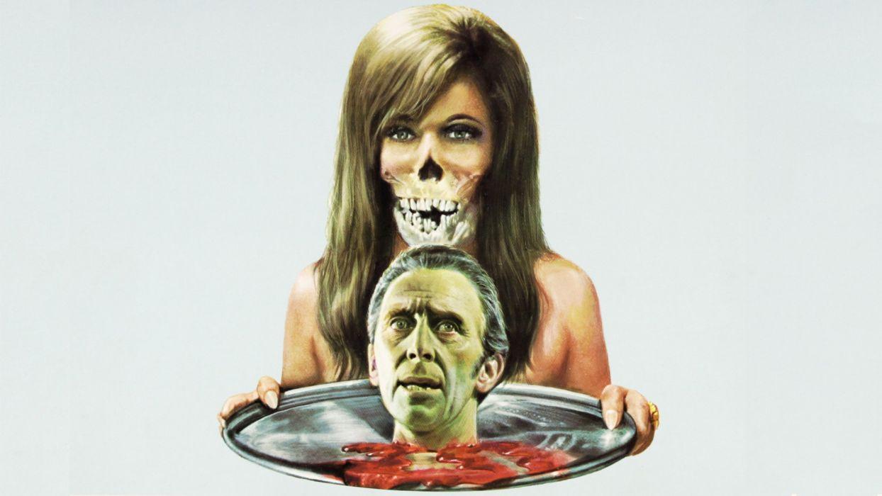 THE HOUSE THAT DRIPPED BLOOD Horror Mystery dark vampire skull      f wallpaper