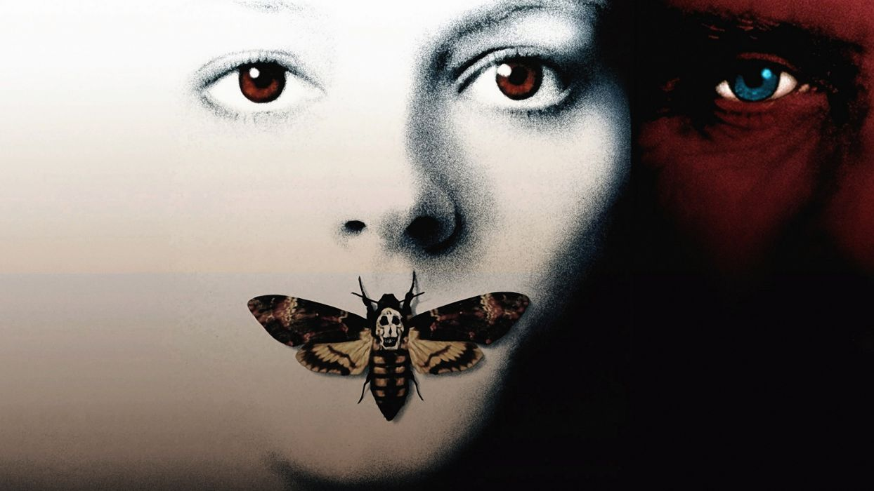 THE SILENCE OF THE LAMBS thriller drama dark psychedelic butterfly poster g wallpaper