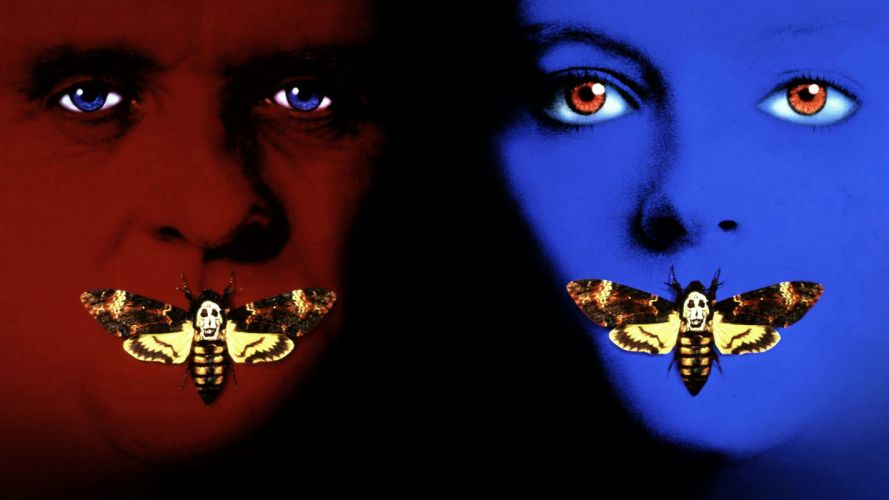 THE SILENCE OF THE LAMBS thriller drama dark psychedelic butterfly poster f wallpaper