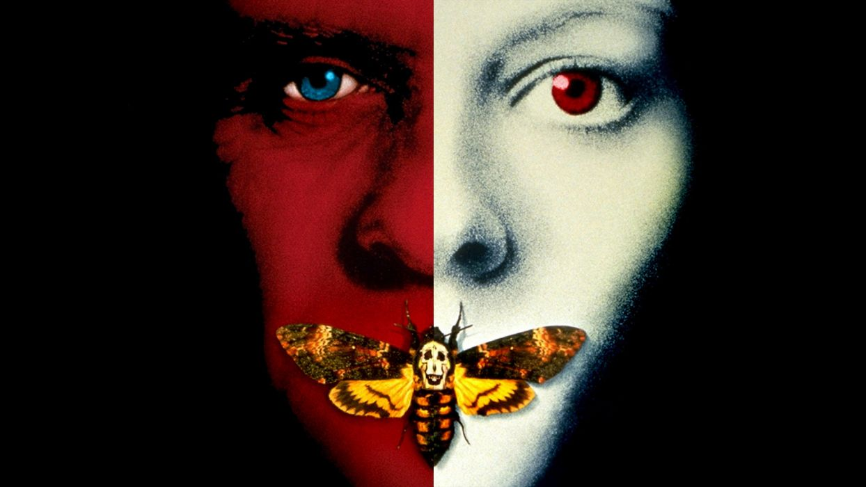 THE SILENCE OF THE LAMBS thriller drama dark psychedelic butterfly poster  t wallpaper