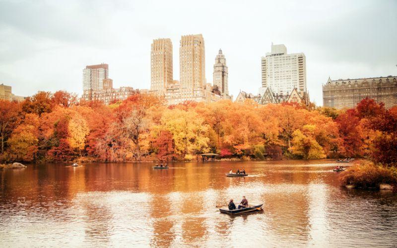 usa manhattan nyc new york city new york central park autumn wallpaper