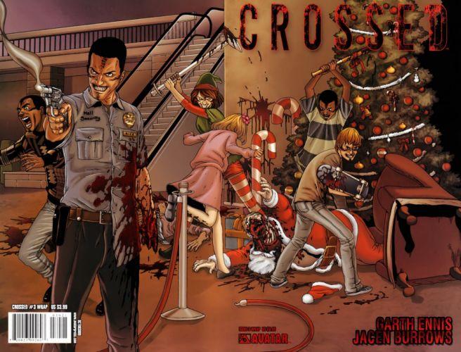 CROSSED avatar-press horror dark comics blood zombie christmas da wallpaper