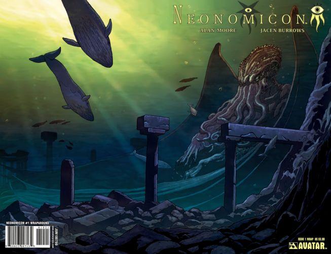 NEONOMICAN avatar-press horror comics underwater ocean shark octopus d wallpaper