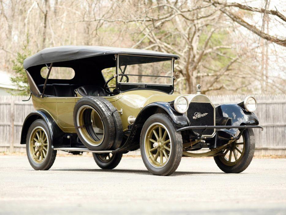 1919 Pierce Arrow Model-31 7-passenger Tourer retro  f wallpaper