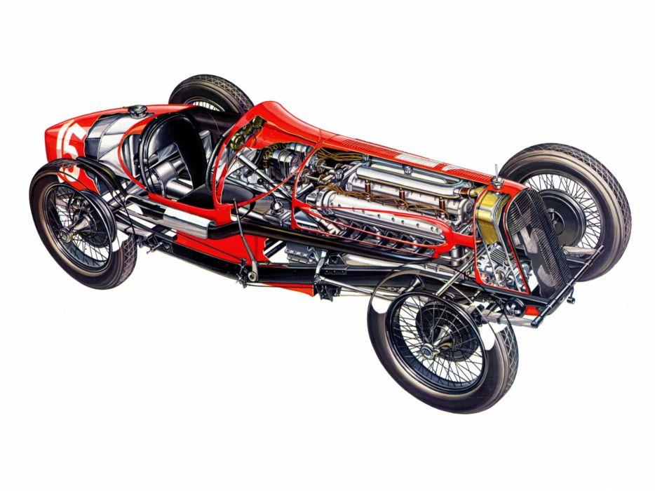1927 Fiat 806 Corsa race racing retro engine interior       g wallpaper