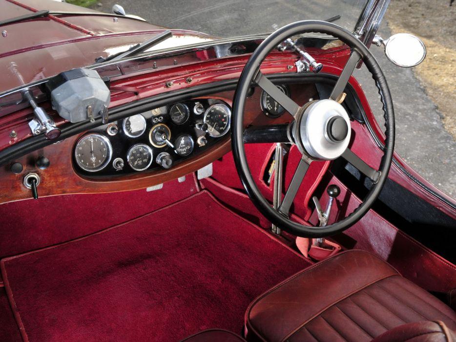 1933 Lagonda 3-Litre T7 Tourer retro t-7 interior       g wallpaper