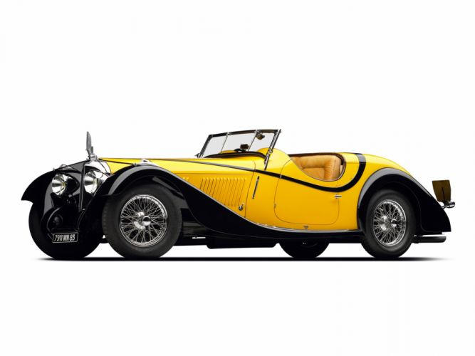 1934 Voisin C27 Figoni Cabriolet retro wallpaper