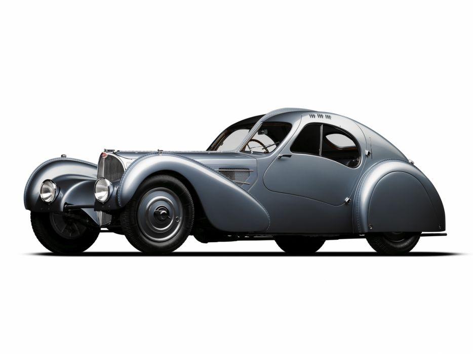 1936 Bugatti Type 57SC Atlantic Coupe supercar retro  r wallpaper