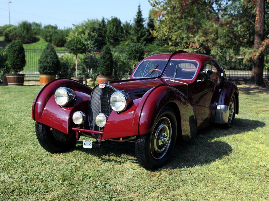 1936 Bugatti Type 57SC Atlantic Coupe supercar retro   te wallpaper