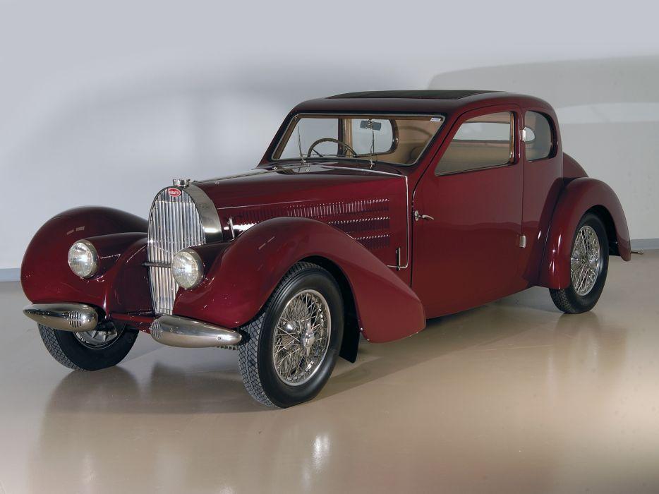 1939 Bugatti Type-57 Ventoux Coupe (Series-III) retro  y wallpaper